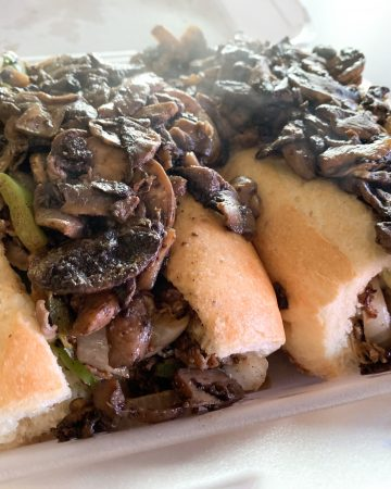 Vito's Philly Cheese Steak Sandwich with Mushrooms