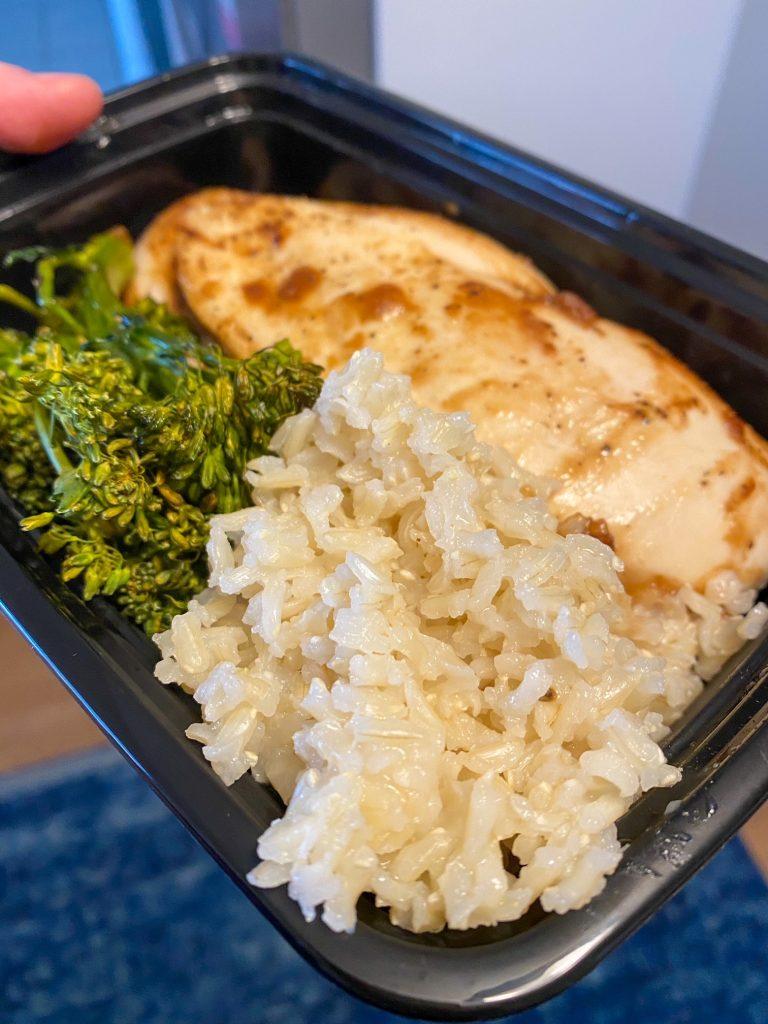 Chicken Breast, Rice, and Brocolini